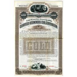 Clearfield Bituminous Coal Corp. 1891 Specimen Bond