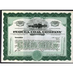 Pequea Coal Co. Inc. 1920's Specimen Stock Certificate