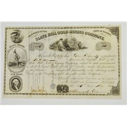 Slate Hill Gold Mining Co., 1854 I/U Stock Certificate