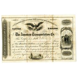 American Transportation Co., 1855 I/U Stock Certificate
