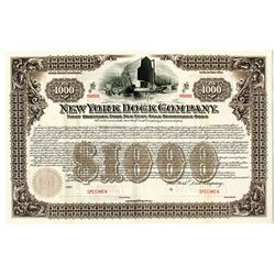 New York Dock Co., 1901 Specimen Bond.