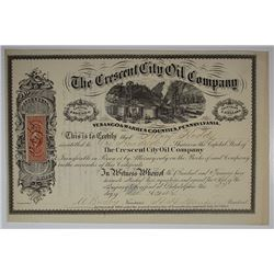 Crescent City Oil Co., 1864 I/U Stock Certificate
