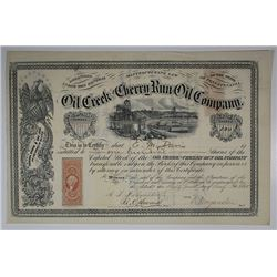 Oil Creek and Cherry Run Oil Co., 1865 I/U Stock Certificate