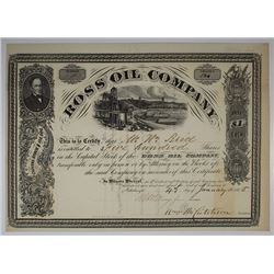 Ross Oil Co., 1865 I/U Stock Certificate