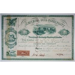 Seneca Oil Co., 1864 I/C Stock Certificate