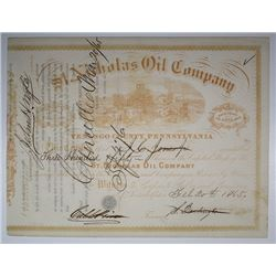 St. Nicholas Oil Co., 1865 I/C Stock Certificate