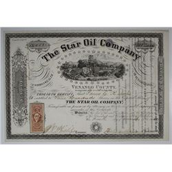 Star Oil Co., 1865 I/U Stock Certificate