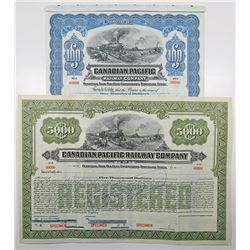 Canadian Pacific Railway Co., ca.1912-1030 Specimen Bond Pair