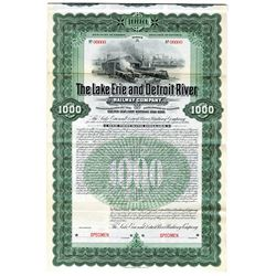 Lake Erie and Detroit River Railway Co., 1902 Discovery Specimen Bond