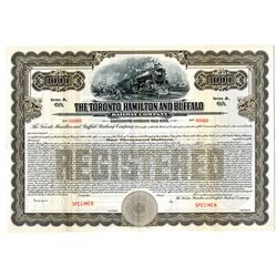 Toronto, Hamilton and Buffalo Railway Co., 1916 Specimen Bond