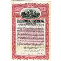 Consolidated Railway Co., 1904 Specimen Bond