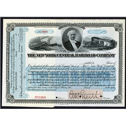 New York Central Railroad Co. ca.1900-1920 Specimen Stock Certificate