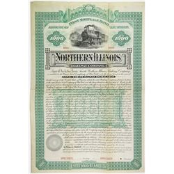 Northern Illinois Railway Co. 1885 Specimen Bond Rarity