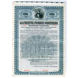 La Fayette, Purdue & Northern Traction Co. 1904 $1000 Specimen Bond
