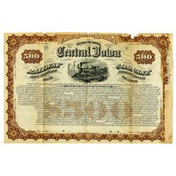 Central Iowa Railway Co., 1879 Specimen Coupon Bond Rarity.