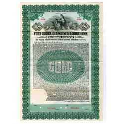Fort Dodge, Des Moines & Southern Railroad Co., 1923 Specimen Bond