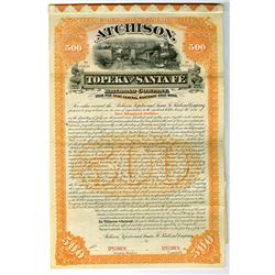 Atchison, Topeka and Santa Fe Railroad Co. 1889 $500 Specimen Bond