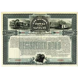 Atchison, Topeka and Santa Fe Railway Co., 1900 Specimen Bond