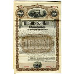 Kansas Midland Railway Co. 1887 Specimen Bond