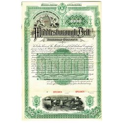 Middlesborough Belt Railroad Co. 1890 Specimen Bond