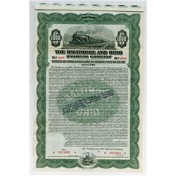Baltimore and Ohio Railroad Co., 1915 Specimen Bond