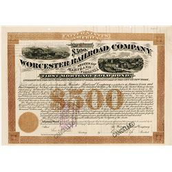 Worcester Railroad Co., 1876 I/C Coupon Bond