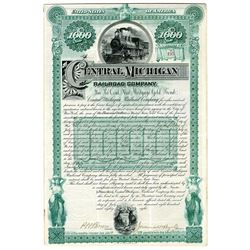 Central Michigan Railroad Co. 1888 I/U Bond