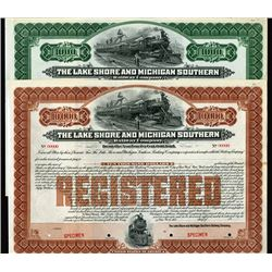 Lake Shore and Michigan Southern Railway Co., 1903 Specimen Bond Pair