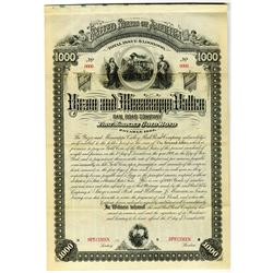 Yazoo and Mississippi Valley Rail Road Co. 1884 Specimen Bond Rarity