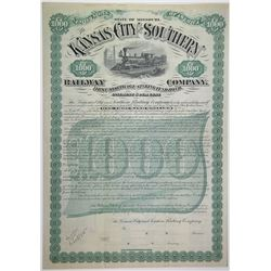 Kansas City and Southern Railway Co., 1883 Specimen Bond