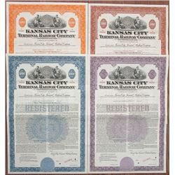 Kansas City Terminal Railway Co., 1944 Specimen Bond Quartet