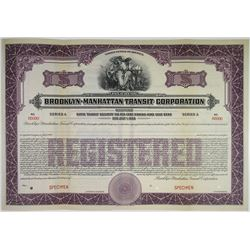 Brooklyn-Manhattan Transit Corp., ND (ca.1910-1920) Specimen Bond
