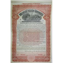 Coney Island and Brooklyn Railroad Co., 1904 Specimen Bond