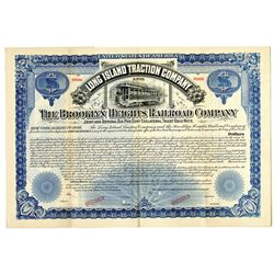 Long Island Traction Co. and The Brooklyn Heights Railroad Co., 1894 Specimen Bond