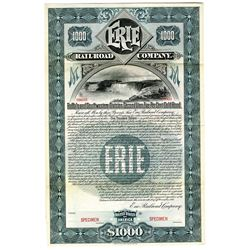 Erie Railroad Co. 1895 Specimen Bond Rarity