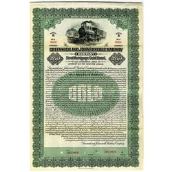 Greenwich and Johnsonville Railway Co. 1923 Specimen Bond Rarity