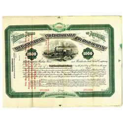 Harlem River and Portchester Rail Road Co., 1873 Specimen Bond
