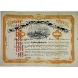 Harlem River and Portchester Rail Road Co., 1873 Specimen Bond