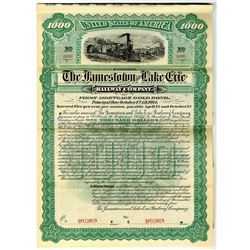 Jamestown and Lake Erie Railway Co. 1894 Specimen Bond