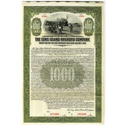 Long Island Railroad Co. 1917 Specimen Bond