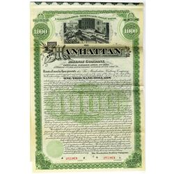 Manhattan Railway Co. 1890 Specimen Bond