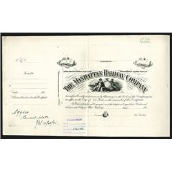 Manhattan Railway Co., 190x Proof Stock Certificate.