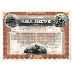 Nassau Electric Railroad Co., 1898 Specimen Bond Rarity