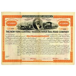 New York Central and Hudson River Rail Road Co., 1873 Specimen Bond Rarity.