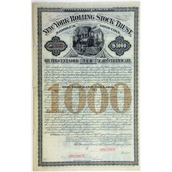 New York Rolling Stock Trust 1881 Specimen Bond Rarity