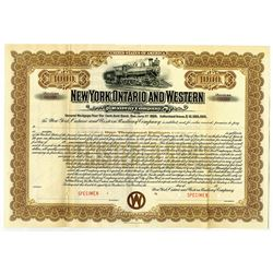 New York, Ontario and Western Railway Co., 1905 Specimen Bond