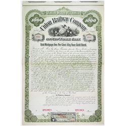 Union Railway Co. of New York City, 1895 Unique Specimen Bond