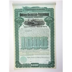 Buffalo, Rochester and Pittsburgh Railway Co., 1904 $1000 Specimen Bond