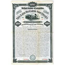 Lake Ontario Southern Railway Co. 1880 Specimen Bond Rarity