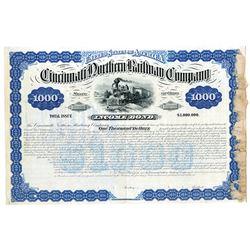 Cincinnati Northern Railway Co. 1881 Specimen Bond
